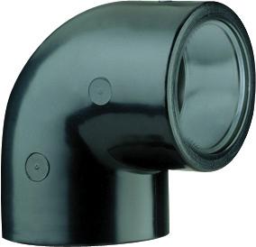 Vinkel 90 grader PVC fra 25 - 325 mm. til pools fra SolBadet.dk