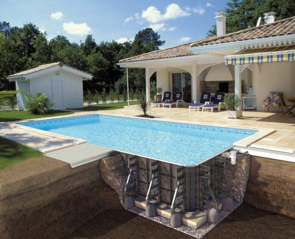 PPP pool, med blå liner