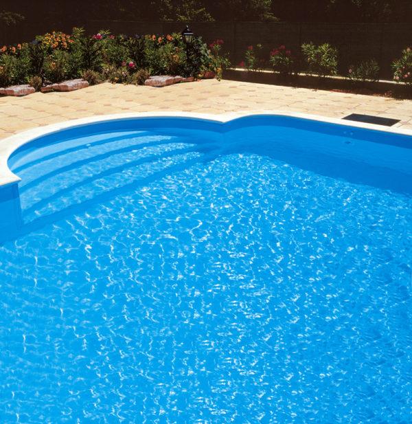 Bassintrappe - Roman udvendig pool trappe i eksklusivt design