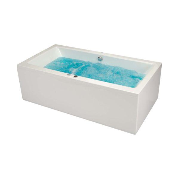 Vita rektangulær badekar