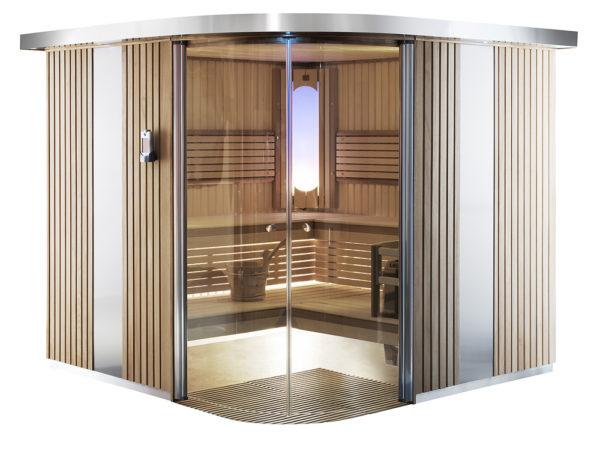 Saunakabine Rondium - finsk luksus sauna - køb den hos SolBadet.dk