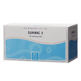 SunWac 3 Klortabs 1200 stk 1,1 gr. Spacare produkter fra Solbadet.dk