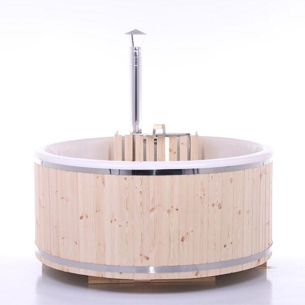 Vildmarksbad Ø1,8m Faconstøbt glasfiber indsats=god hygiejne, rengøring