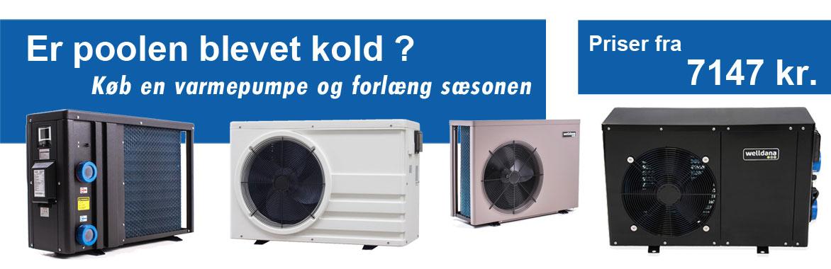 køb varmepumper fra Solbadet til din pool og brug den om vinteren