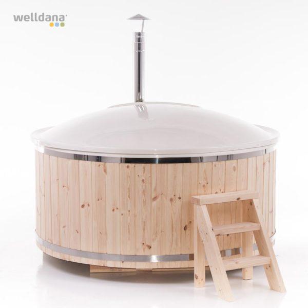 Vildmarksbad Ø 2,0m. Med ovn - Køb vilmakrsbadet på Solbadet.dk