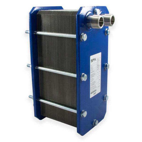 Plate heat exchanger. APV. 104 kw 316L. 3/4″ fra Solbadet