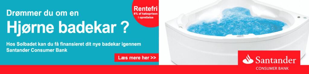 Få finansieret hjørne badekar uden dyser hos Solbadet