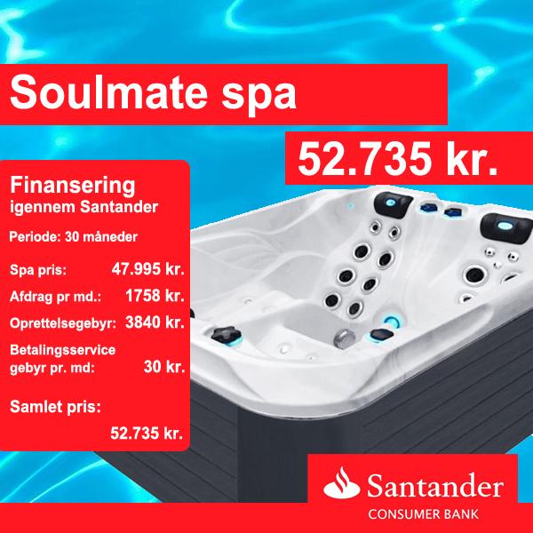 Soulmate spa bad finansiering igennem santander consumer bank hos Solbadet