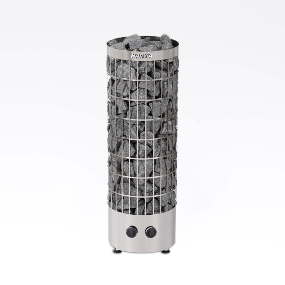 Cylindro fritstående saunaovn med indbygget styring elektrisk saunaovn fra Solbadet