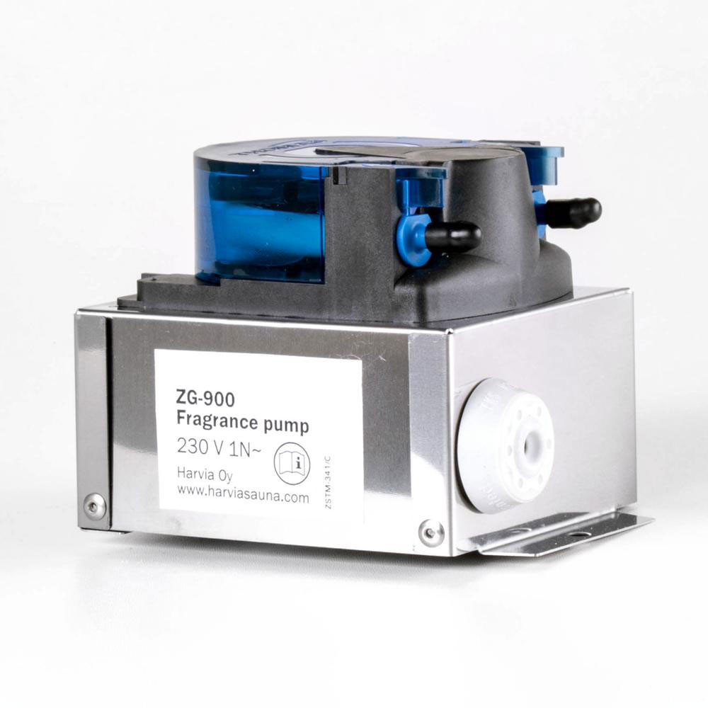 Duftpumpe set til Helix. Dampgenerator fra siden solbadet