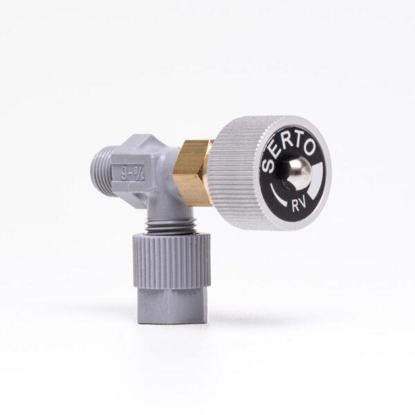 Elbow shut off valve solbadet