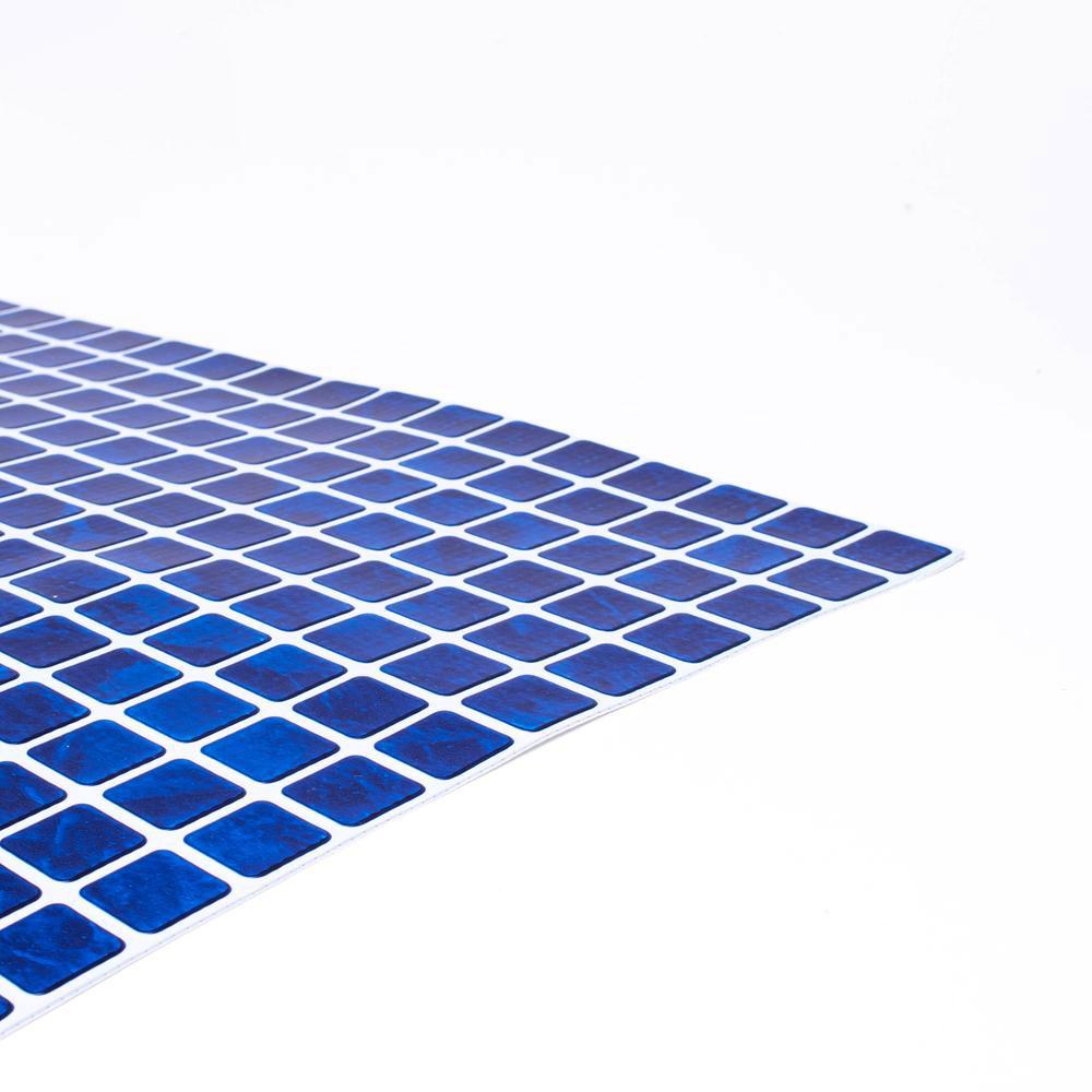 Folie 1,5mm blå mosaik folie solbadet