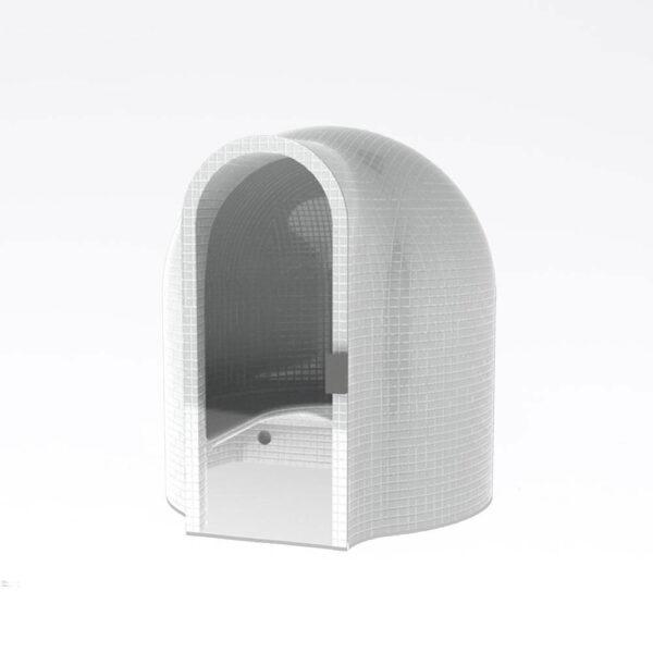 Harvia Cupola Dampkabine, uden beklædning Polystyren, vandresistent, 210.0x200.0cm solbadet