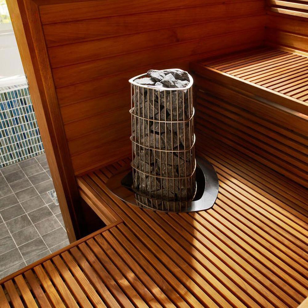 Harvia Kivi elektrisk saunaovn indbygget i gulv solbadet
