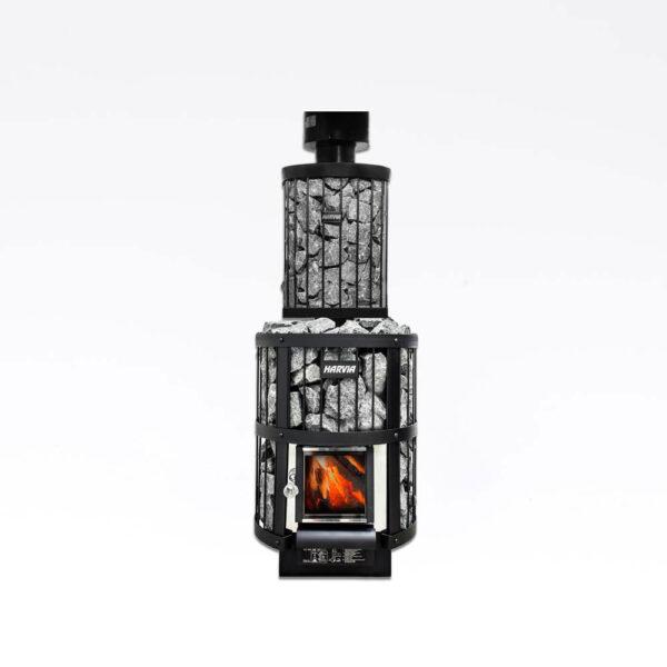 Harvia Legend Vandvarmer, rørmodel 25L Sort, 25L, 36.0x36.0x91.0cm, til Legend ovne solbadet