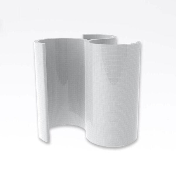 Harvia Shower Spa-Modul, uden beklædning Polystyren, vandresistent, 209.5x210.0cm solbadet