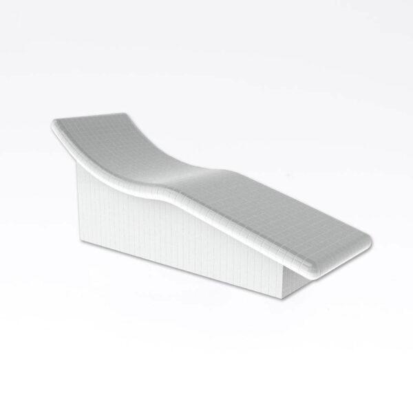 Harvia Sleep bænk, uden beklædning Polystyren, vandresistent, 70.0x84.4x205.1cm solbadet