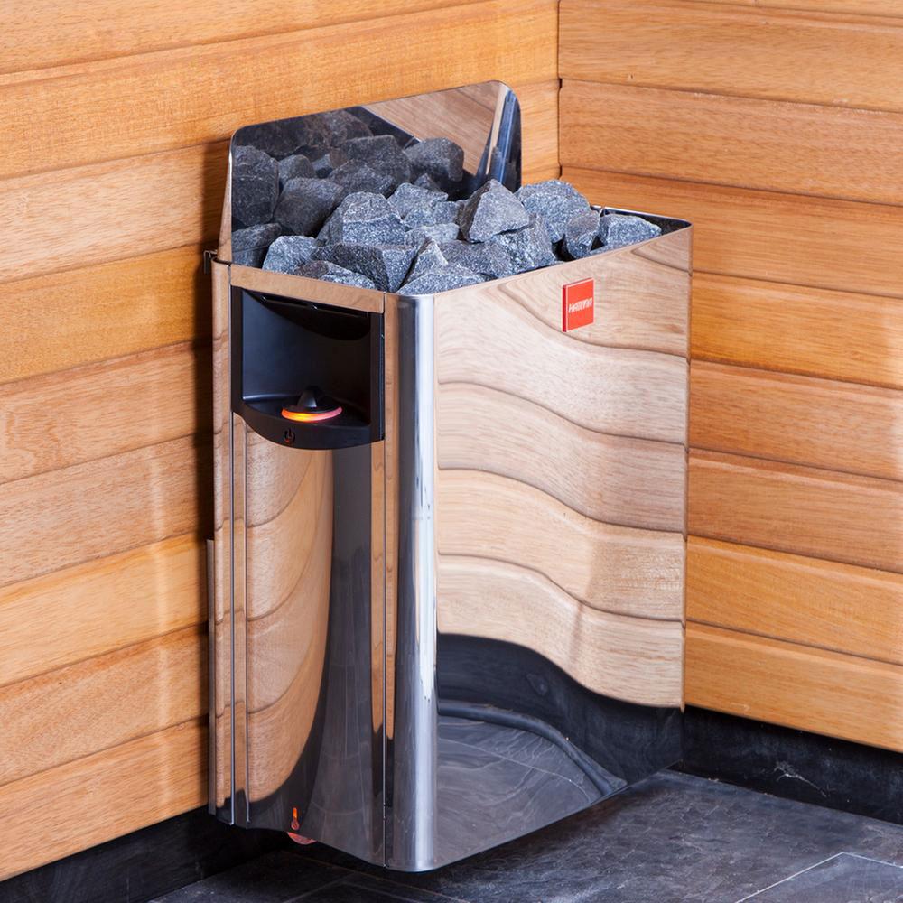 Harvia The Wall Elektrisk saunaovn i miljø solbadet