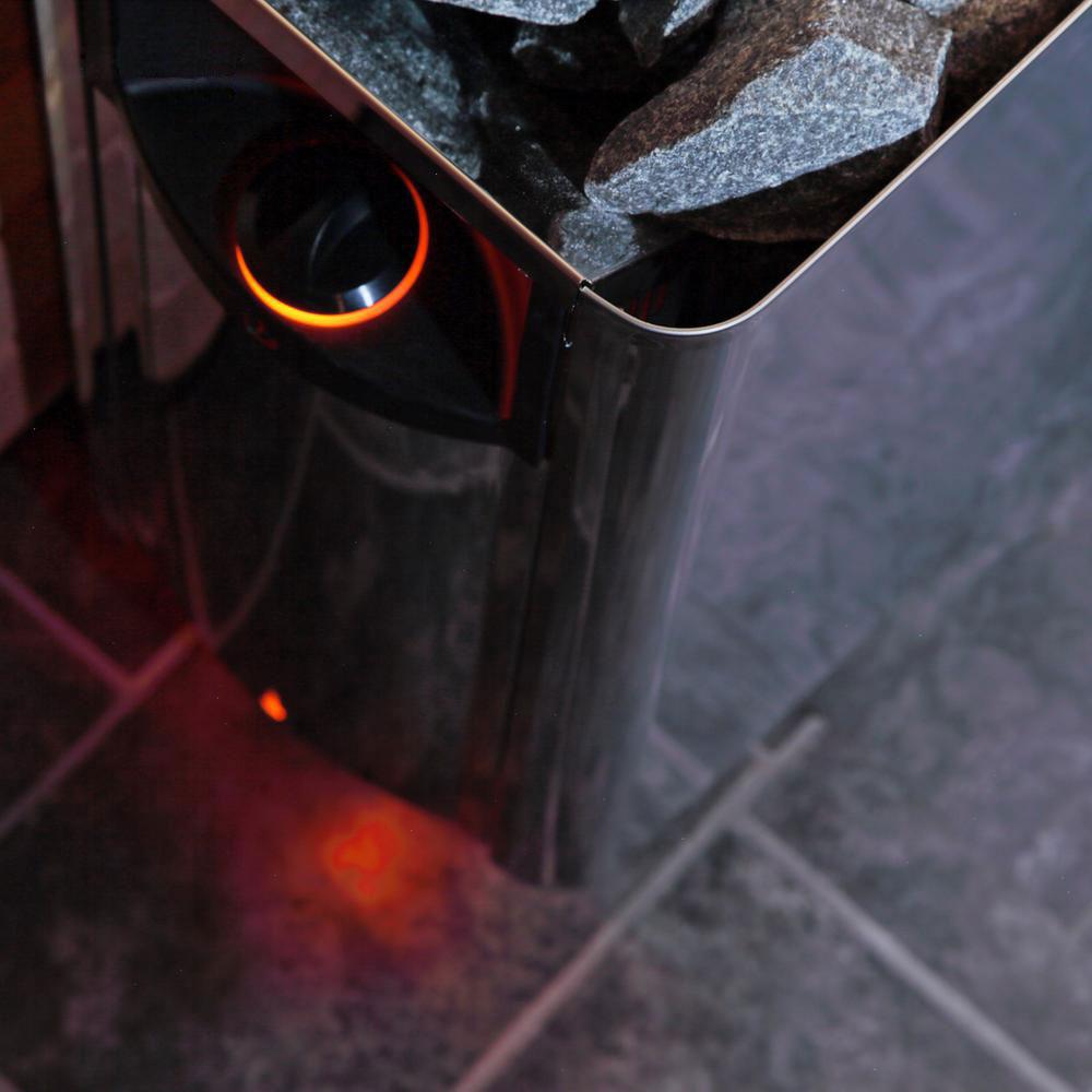 Harvia The Wall Elektrisk saunaovn på gulv solbadet