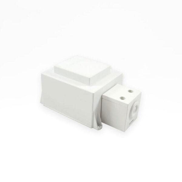 Trafo 230/12Vac. 105 Watt. m/ledning. hvid solbadet