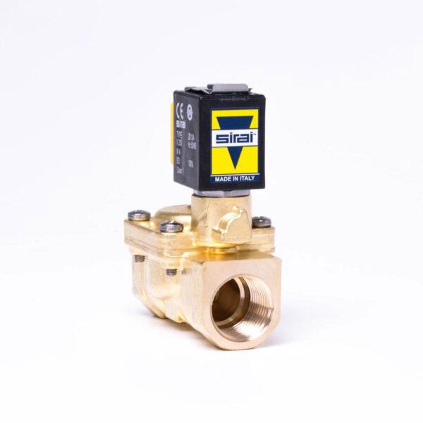 """Magnetventil ½"""", 230V NC inkl. kabelstik. IP65 solbadet"""