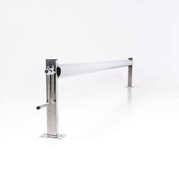 Oprulningsstativ rustfrit stål 305 mm. centerhøjde. (u/rør) Solbadet