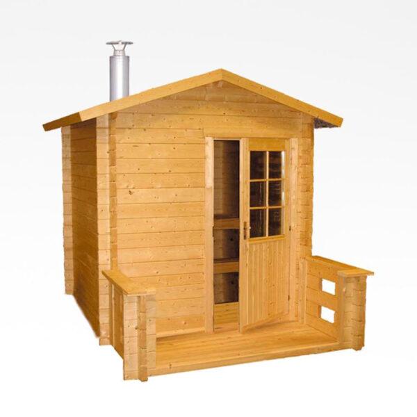 Outdoor sauna Keitele med Pro20 træovn. solbadet