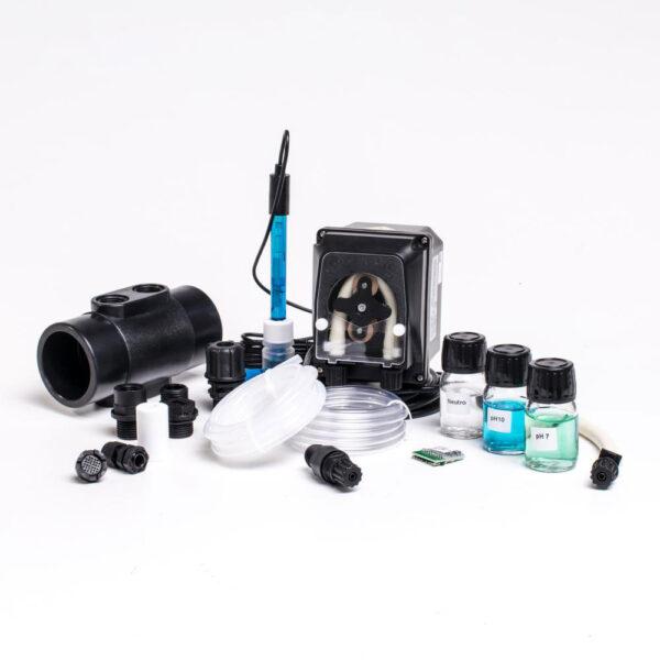 PH sæt til KLX med sensor og doseringspumpe fra Solbadet alt til saltvandanlæg