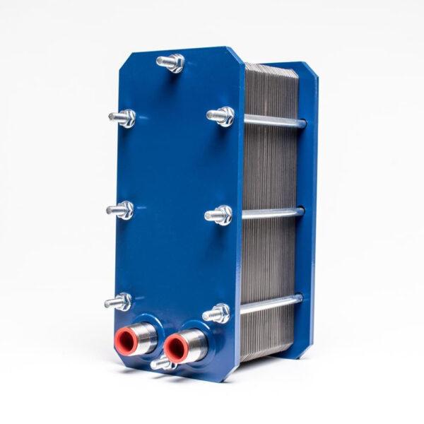 "Plate heat exchanger. APV. 104 kw 316L. 3/4"" varmeveksler solbadet"