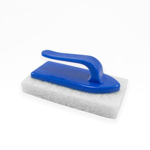 Skrubbebørste, blå, svamp rengøring fra solbadet