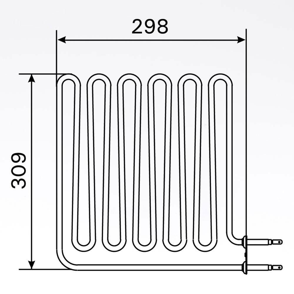 Sauna Element 2750W, 230V Vega (terminal side) solbadet