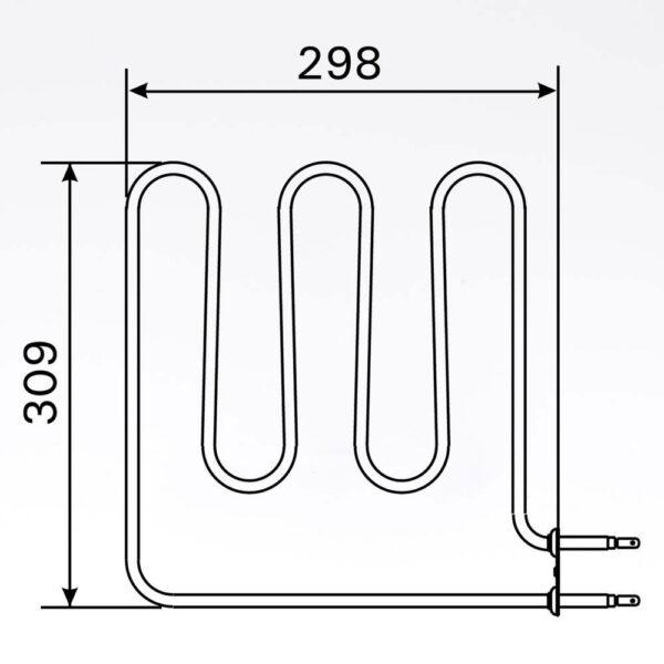 Sauna element 1500W, 230V