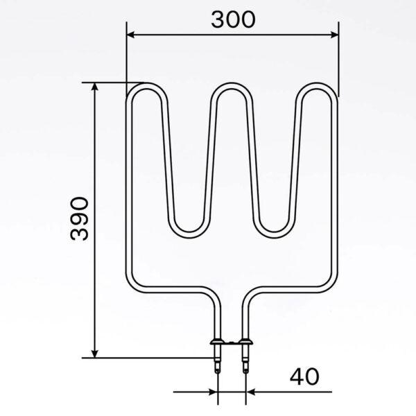 Sauna element 1500W, 240V Terminaler i bunden. solbadet