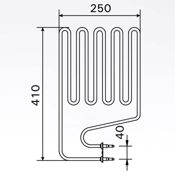Sauna element 2000W, 230V Terminaler i siden. solbadet