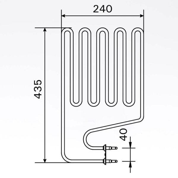 Sauna element 2150W, 230V Terminaler i siden. solbadet