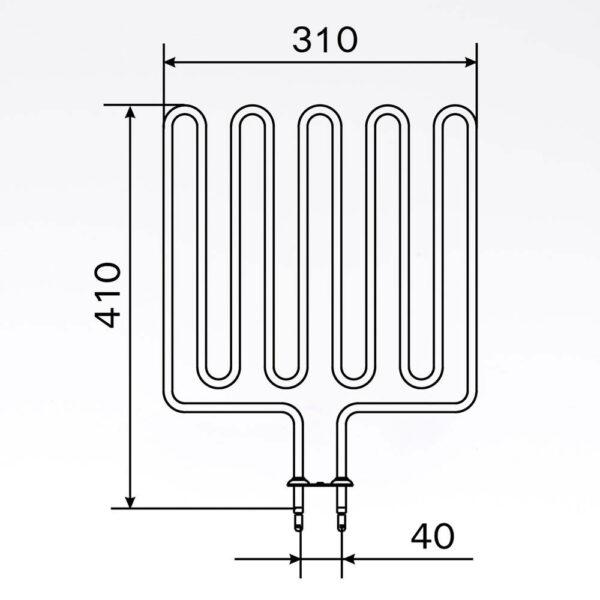 Sauna element 2670W, 240V Terminaler i bunden. solbadet