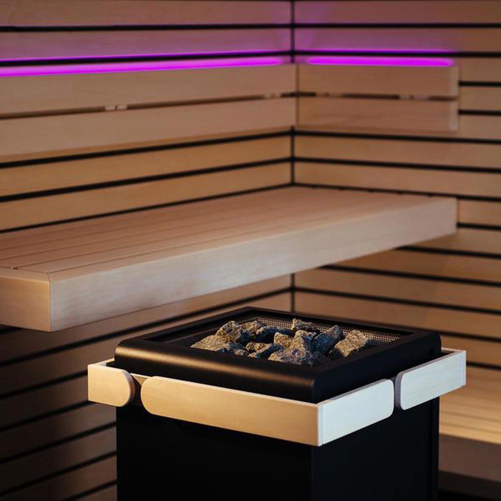 Sentiotec Concept R 10,5 KW Sort i sauna lilla solbadet