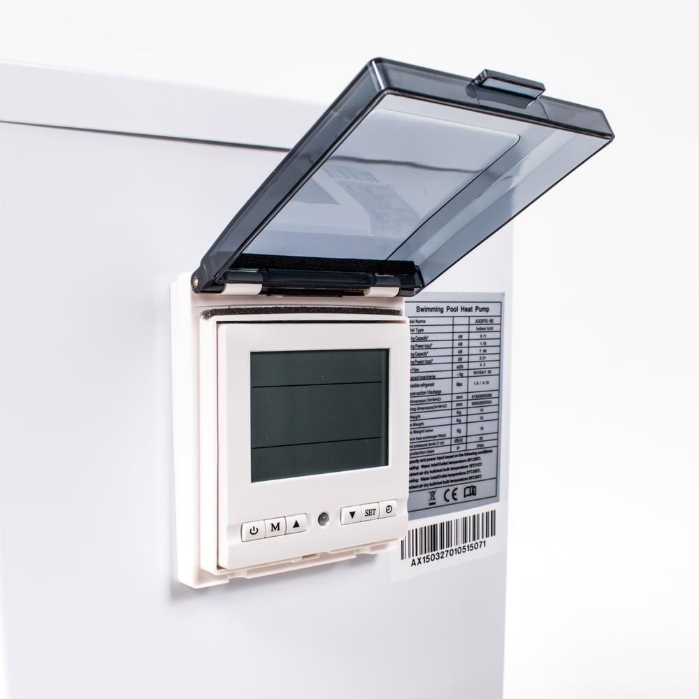 Split varmepumpe 9 kW hvid panel Solbadet