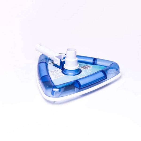 Triangel bundsugerhoved blå rengøring af pool solbadet