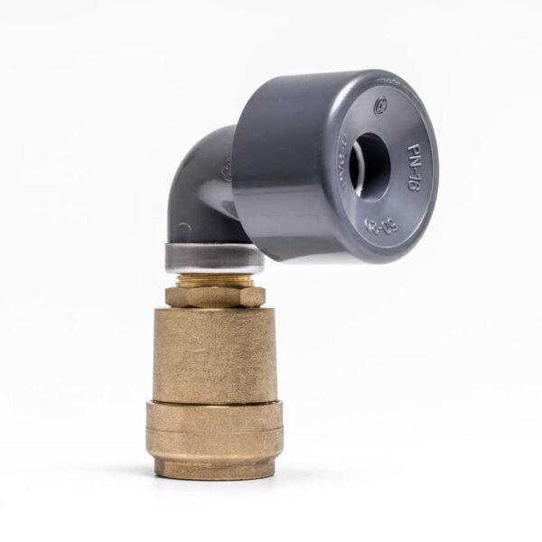 Udluftningsventil til solpanel 50 mm. Dobbeltvirkende. - Solbadet