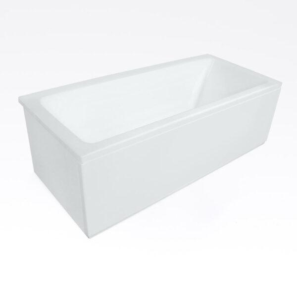 Vita badekar solbadet