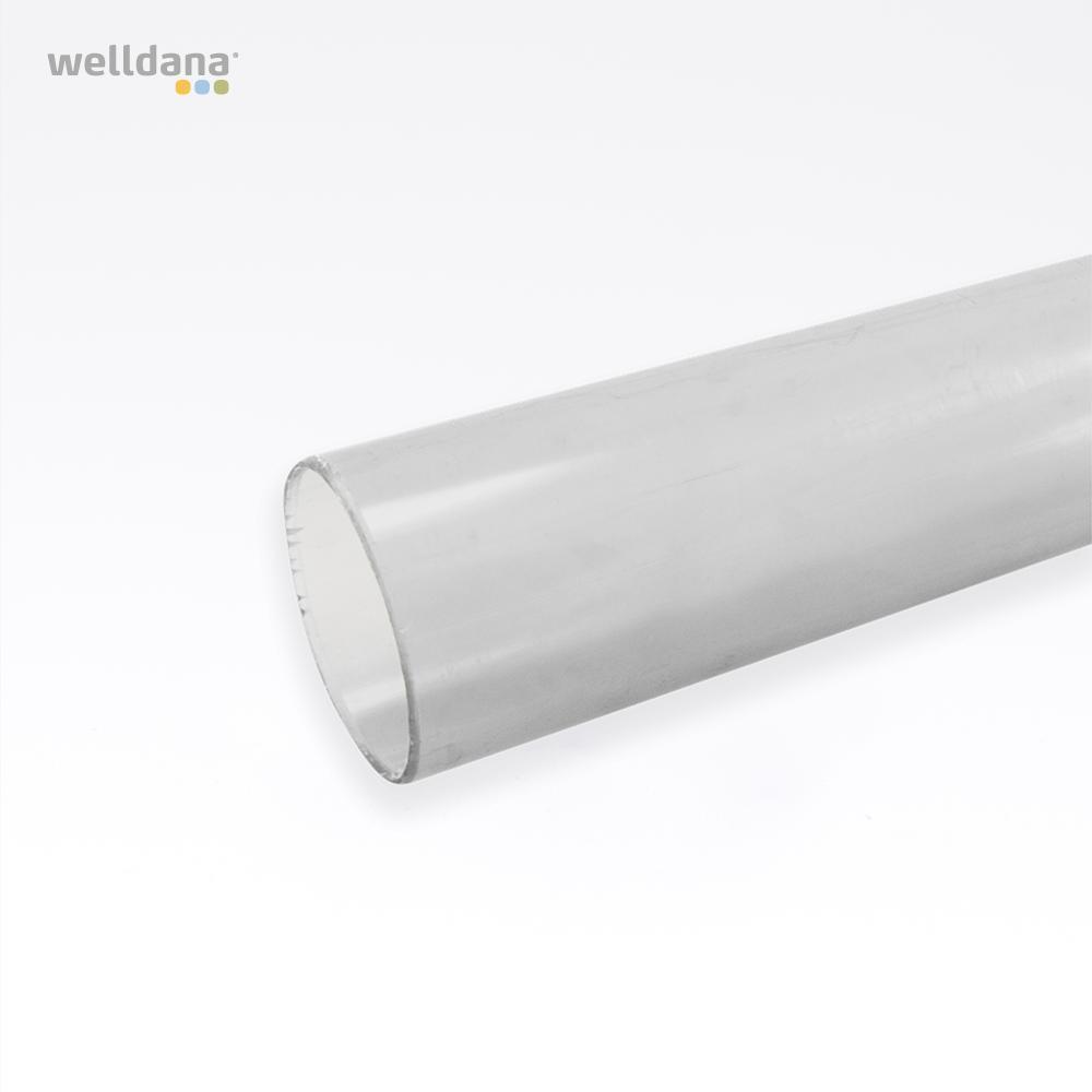 Transperant PVC rør fra Solbadet