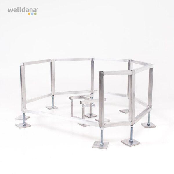 Stel til offentlig spa, med justerbare fødder. fra SolBadet.dk
