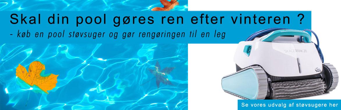 Rengøring af din pool - støvsugere fra Solbadet