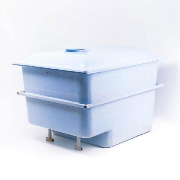 Teknik boks t. nedgravning 217 x 170 x 123 cm/glasfiber solbadet