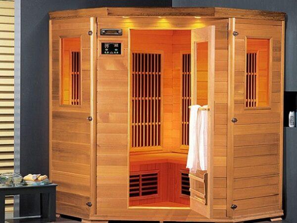 frarød kabine Lars 4 Cabon, 4 pers. infrarød sauna fra SolBadet.dk