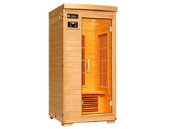 Infrarød kabine Ivar 1 cabon, indendørs 1 pers. infrarød sauna. fra SolBadet.dk