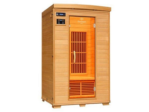 Infrarød kabine Ivar 2 Cabon, indendørs 2 pers. infrarød sauna. fra SolBadet.dk