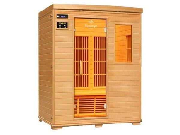 Infrarød kabine Ivar 3 Cabon indendørs 2 pers. infrarød sauna fra SolBadet