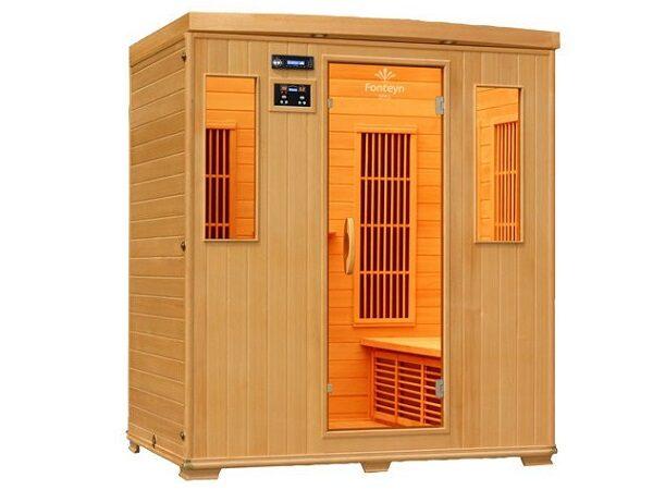 Infrarød kabine Ivar 4 Cabon indendørs 2 pers. infrarød sauna fra SolBadet